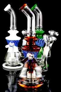 Stemless Colored GoG Water Pipe with Matrix Perc - WP1813