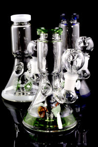 Mini Stemless GoG Beaker Water Pipe with Stemline Drum Percs - WP1826