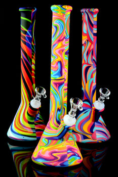 Large Psychedelic Silicone Water Pipe - WP1833