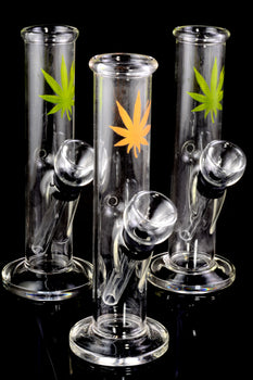 Small Glass Decal Water Pipe with Carb - WP1842