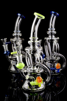 Medium Stemless GoG Recycler Water Pipe - WP1847