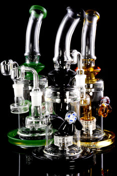 Medium Stemless GoG Flower Marble Dab Rig with Matrix Perc - WP1919