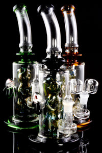 Medium Stemless GoG Bent Neck Dab Rig with Woman Perc - WP1921