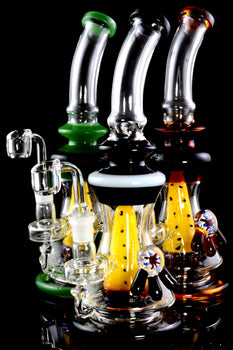 Medium Stemless GoG Bent Neck Dab Rig with Fruit Perc - WP1922