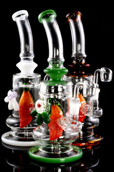 Medium Stemless GoG Dab Rig with Frit Fruit Perc - WP1923