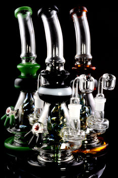 Medium Stemless GoG Dab Rig with Metallic Flower Perc - WP1924