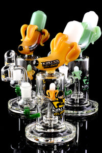 Small Stemless GoG Banana Dab Rig with Showerhead Perc - WP1931