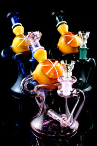 Small Stemless Recycler Water Pipe with Inline Perc - WP1943