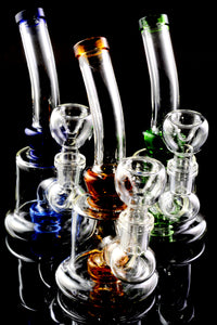 Small Stemless GoG Water Pipe with Stemline Showerhead Perc - WP1946
