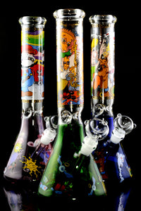 (US Made) Large GoG Decal Beaker Water Pipe - WP1949
