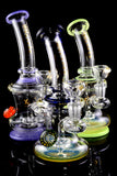 Small Stemless GoG Bent Neck Water Pipe with Showerhead Perc - WP1975