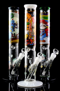 (US Made) Large GoG Decal Straight Shooter Water Pipe - WP2013