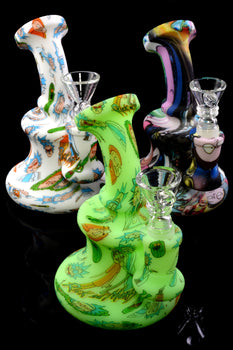 Mini R&M Silicone Bent Neck Water Pipe - WP2038