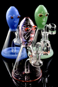 Small Stemless GoG Colored Alien Dab Rig Water Pipe - WP2059