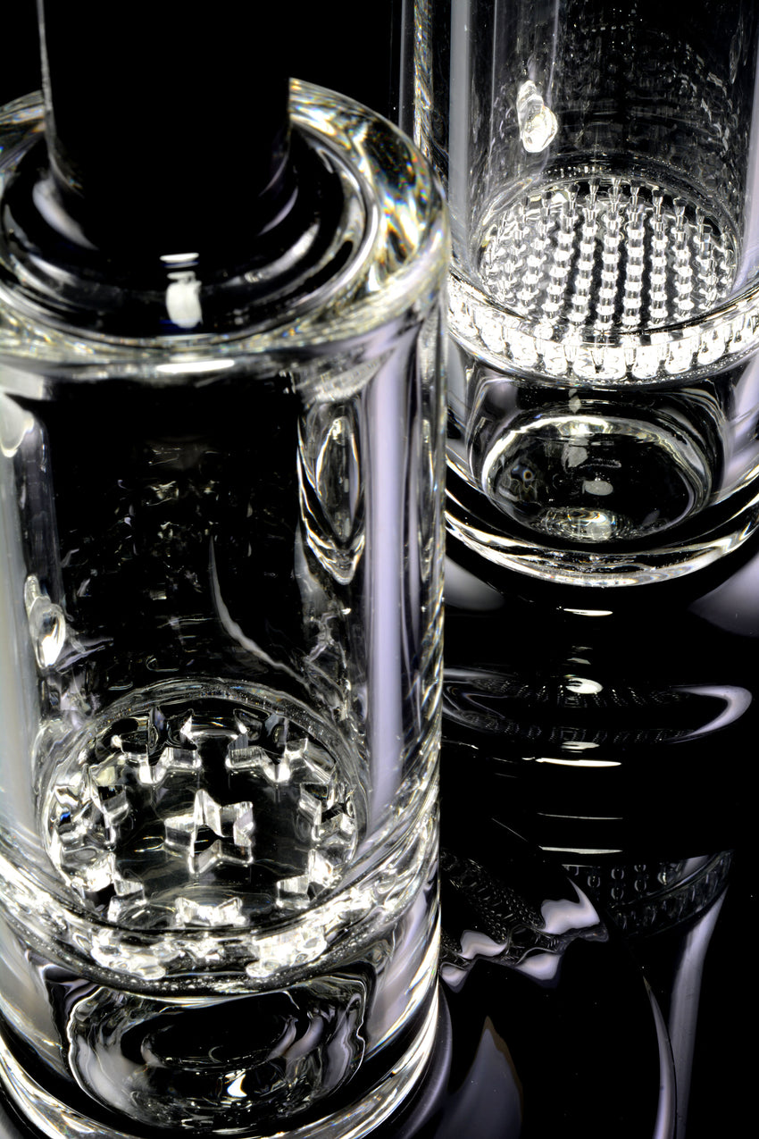 Medium Bent Neck Stemless GoG Water Pipe with Honeycomb Perc - WP2070