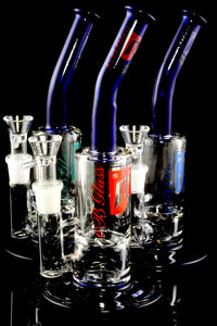 Medium Stemless GoG Bent Neck Water Pipe with Vortex Perc - WP2112