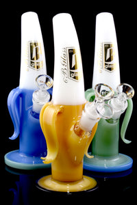 Medium Colored Glass on Glass Banana Water Pipe - WP2115