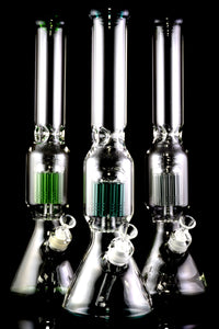 Large Thick Glass on Glass Beaker Water Pipe with Tree Perc - WP2189