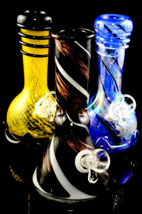 (Mix) Thick Small Glass on Glass Soft Glass Water Pipe - WP2211