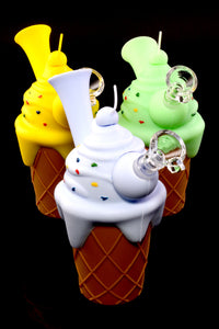 Small Ice Cream Cone Silicone Water Pipe - WP2214