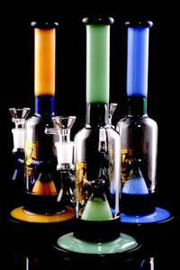 Medium Stemless Colored GoG Water Pipe with Showerhead Perc - WP2216