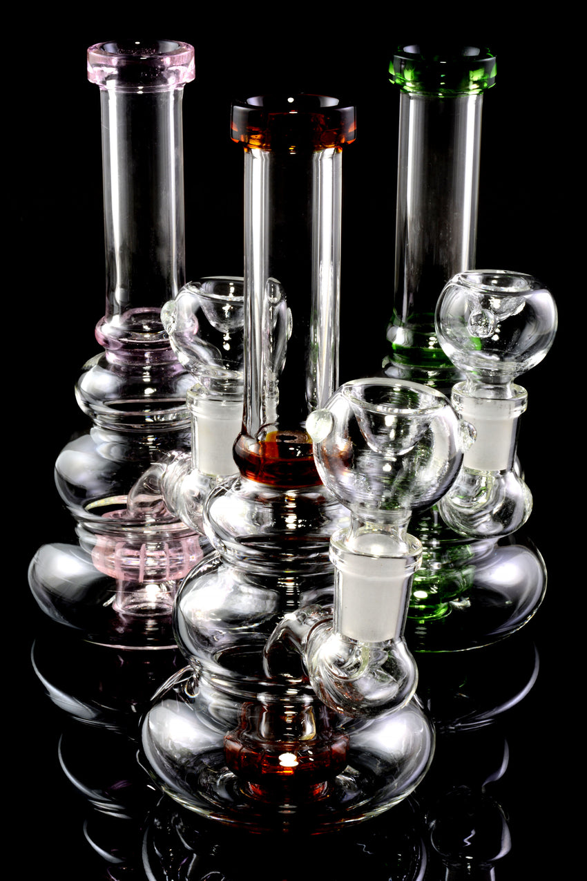Small Stemless GoG Rounded Water Pipe with Showerhead Perc - WP2274