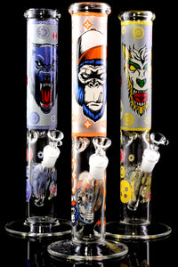 (US Made) Large GoG Glow in the Dark Decal Straight Shooter Water Pipe - WP2281