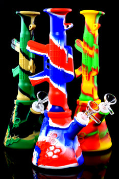 Heavy Duty Colorful AK-47 Silicone Water Pipe- WP2286