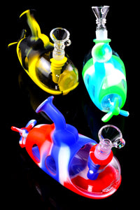 Colorful Silicone/Glass Submarine Water Pipe - WP2296