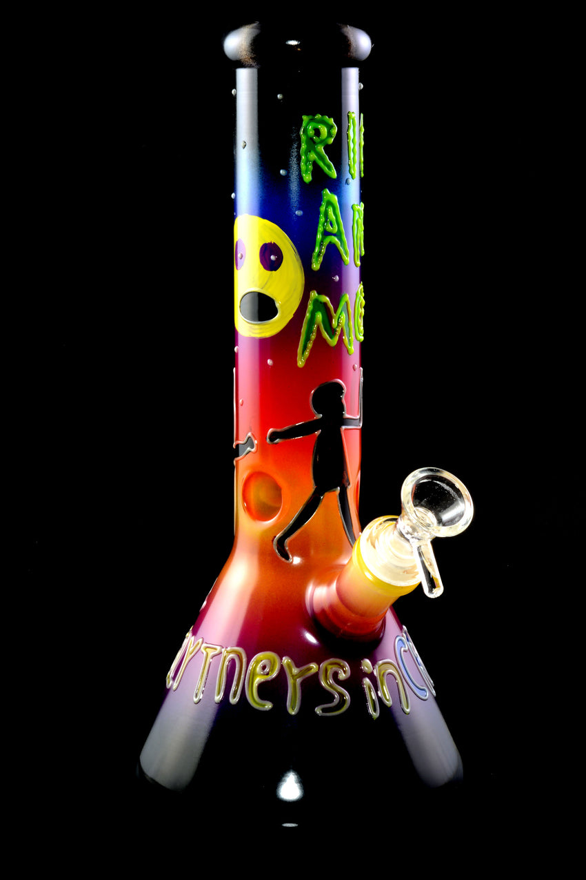 Medium Glow in the Dark R&M GoG Beaker Water Pipe - WP2297
