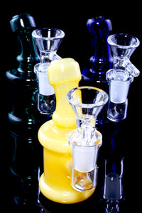 Mini Stemless Colored Glass on Glass Water Pipe - WP2313