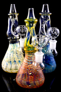 Small Stemless Color Changing Twisted Glass on Glass Water Pipe - WP2319