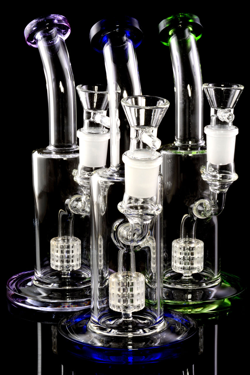 Small Stemless GoG Bent Neck Water Pipe with Matrix Perc - WP2359