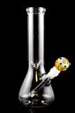 (US Made) Medium Clear Glass on Glass Beaker Water Pipe - WP729