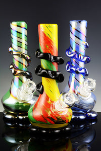 Extra Thick Medium Glass on Glass Soft Glass Water Pipe - WP926