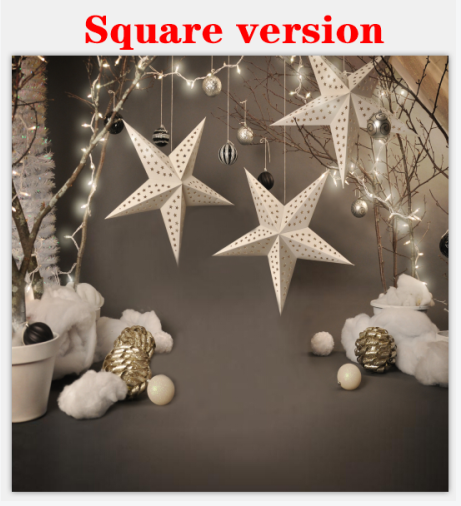 Load image into Gallery viewer, Kate Christmas Grey Star Backdrops for Photography