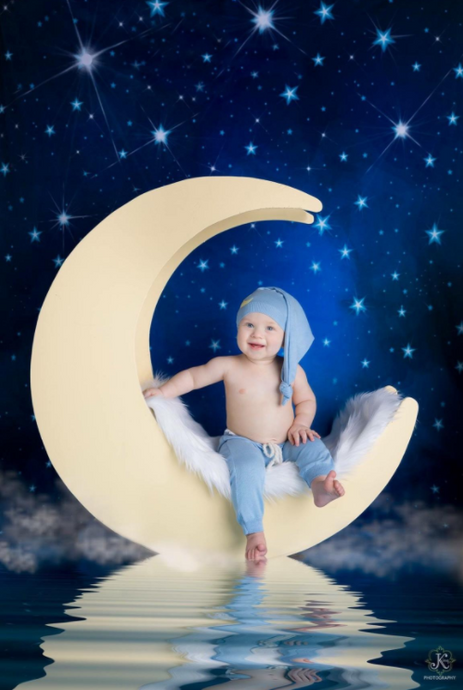 Katebackdrop£ºKate Children Night Blue Sky Light Stars Backdrop