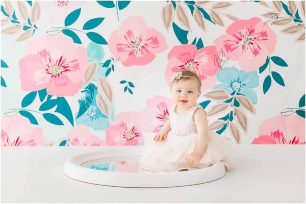 Load image into Gallery viewer, Kate Retro Spring Flowers Backdrop for Photography Designed by JFCC