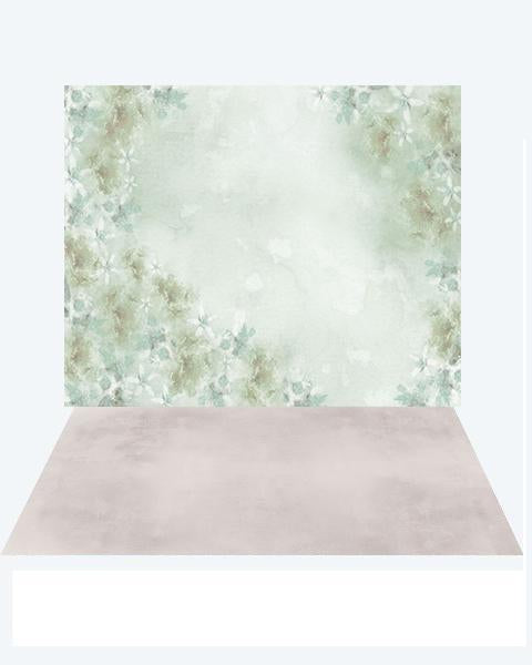 Load image into Gallery viewer, Kate Green flower fine art backdrop +texture floor mat