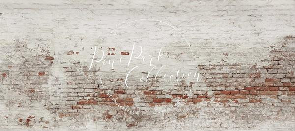 Kate Retro Paint Off Brick Backdrop for Photography Designed by Pine Park Collection