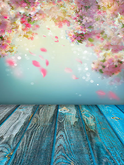 Katebackdrop:Kate Spring Scenery Colorful Wooden Floor Photography Backdrop