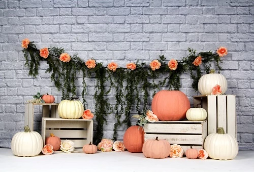 Load image into Gallery viewer, Kate Sweet as Pumpkin Pie 1st Birthday Backdrops Designed by Arica Kirby