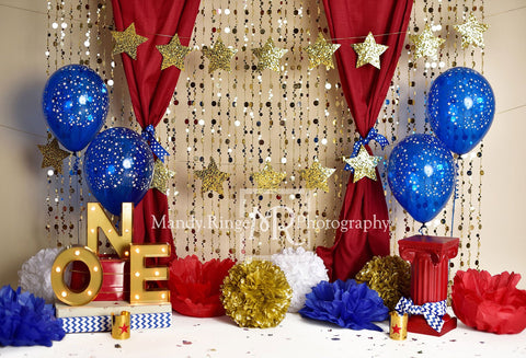 Kate One-der Woman First Birthday Balloons Backdrop for Photography Designed by Mandy Ringe Photography