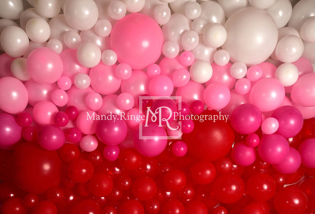 Kate Valentine's Day Balloon Wall Backdrop for Photography Designed by Mandy Ringe Photography