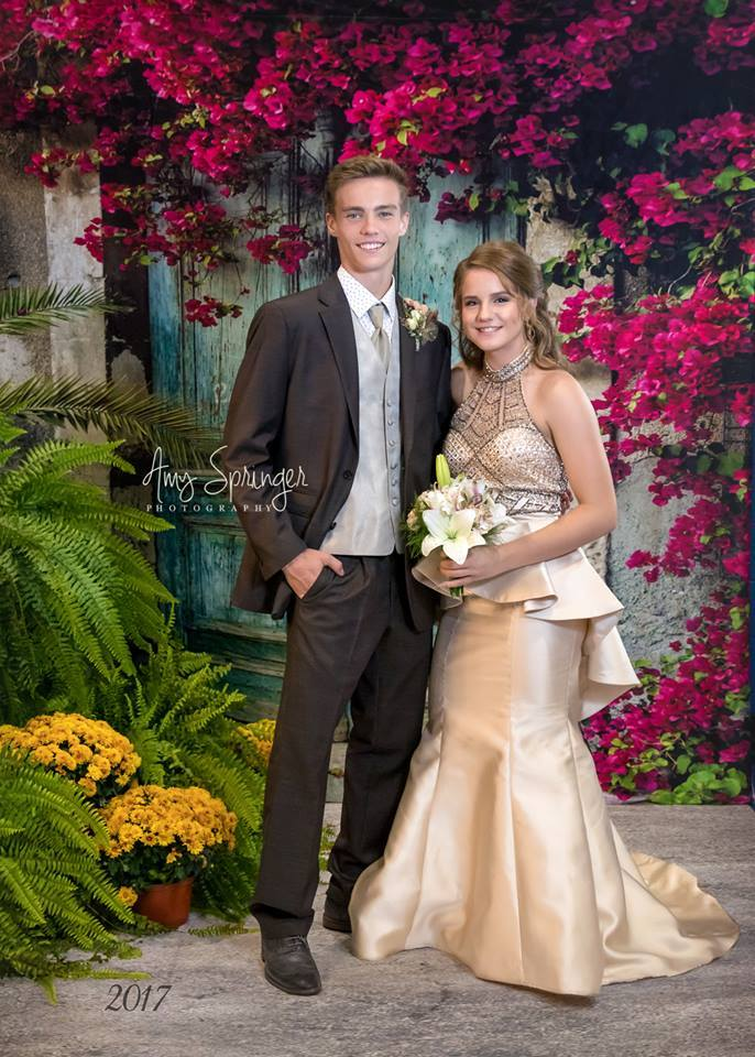 Kate Blue Door Red Floral Scenery Concrete Backdrop for Couple Photography - Kate backdrops UK
