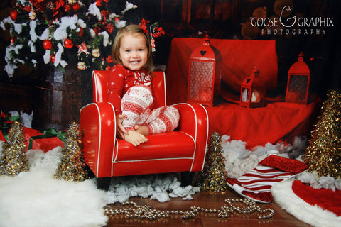 Kate Christmas Cotton Backdrop Decorations Box for kid Photography - Kate backdrops UK