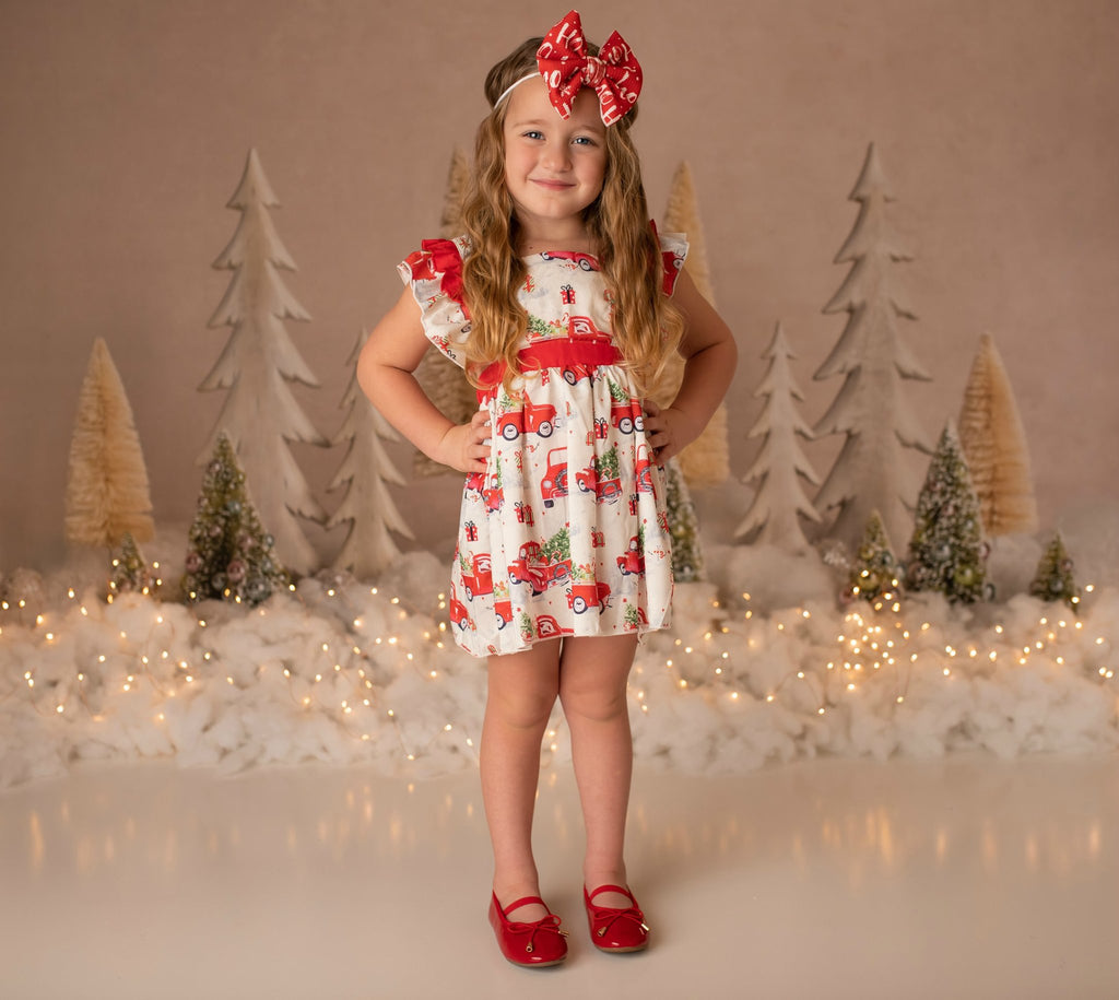 Kate Elegant Christmas Trees with Glitter Backdrop for Photography Designed By Mandy Ringe Photography