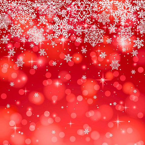 Kate Red Bokeh Snowflake Backdrop for Photography-only three