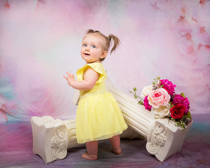 Kate Flowers Backdrop Pink Peach Blossom Designed by Chain Photography