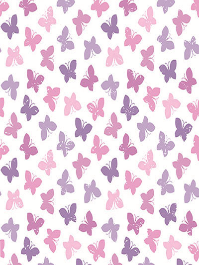 Katebackdrop£ºKate Light Purpul Butterfly Printed Fabric Pattren Backdrop Photography